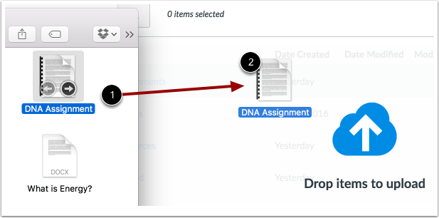 Upload Files via Drag and Drop