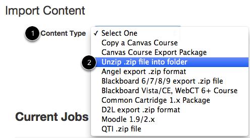 Select .zip Import