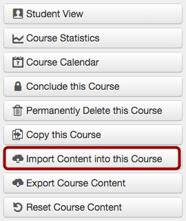 Import Content into this Course