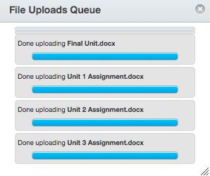 View File Uploads Queue