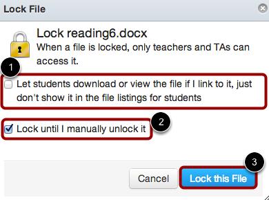 Select Lock Settings