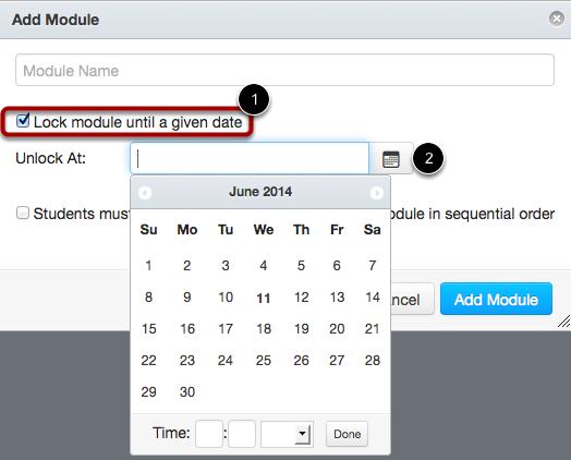 Lock Module Until a Given Date