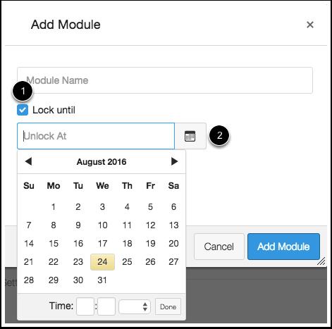 Lock Module Date