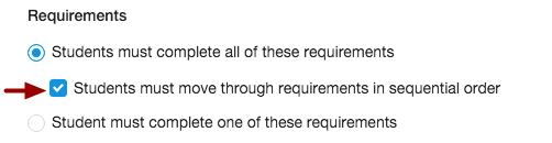 Require Sequential Order