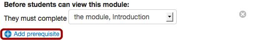Add Additional Prerequisites
