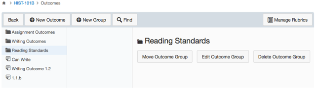 View Outcome Groups