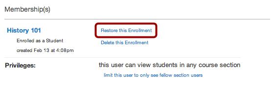 Restore Enrollment