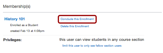 Conclude Enrollment