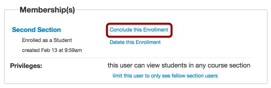 Conclude Enrollment