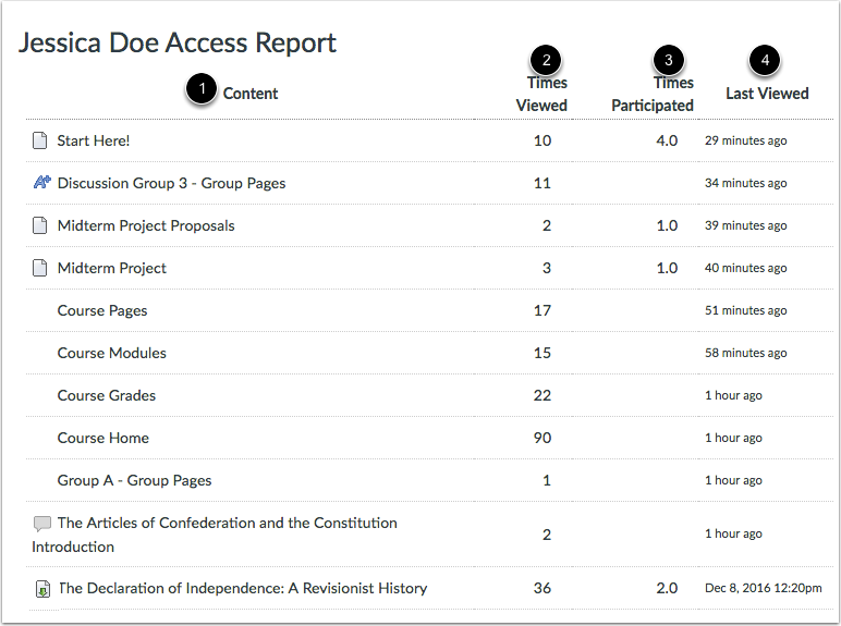 View Access Report