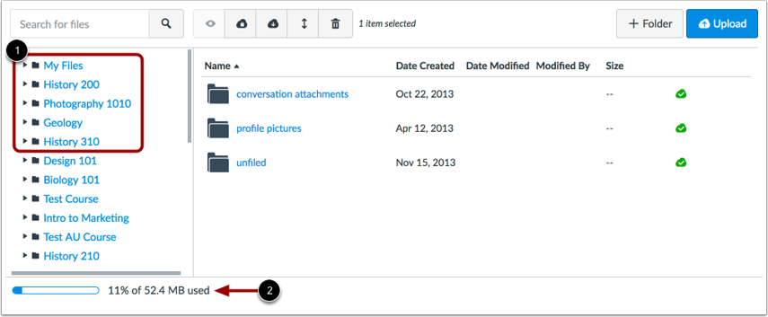 View User Files