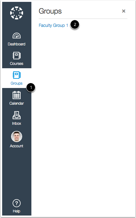 Open Group in the New Canvas UI