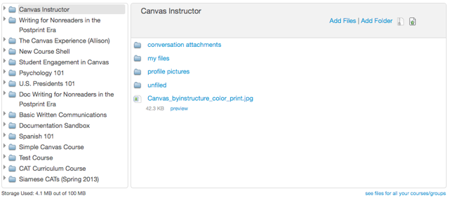 View Files for Courses/Groups