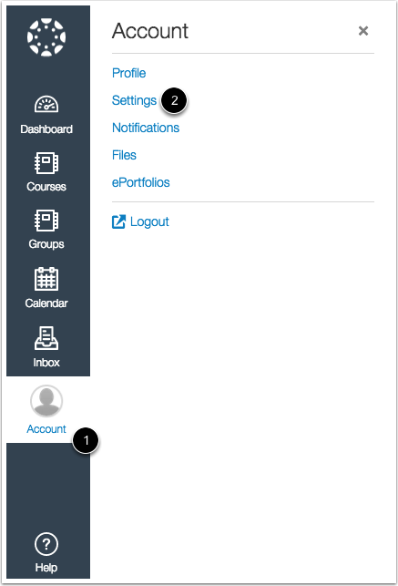 Open User Settings in New Canvas UI
