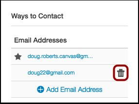 Delete Email Address