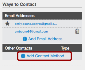 Add Contact Method