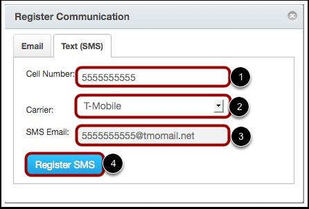 Register SMS