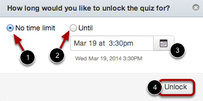 Unlock Quiz Options