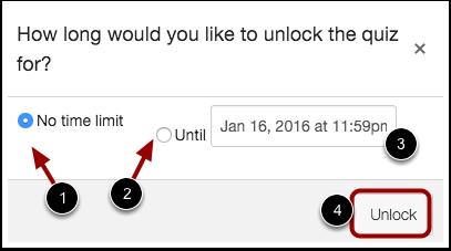 Unlock Quiz Limit