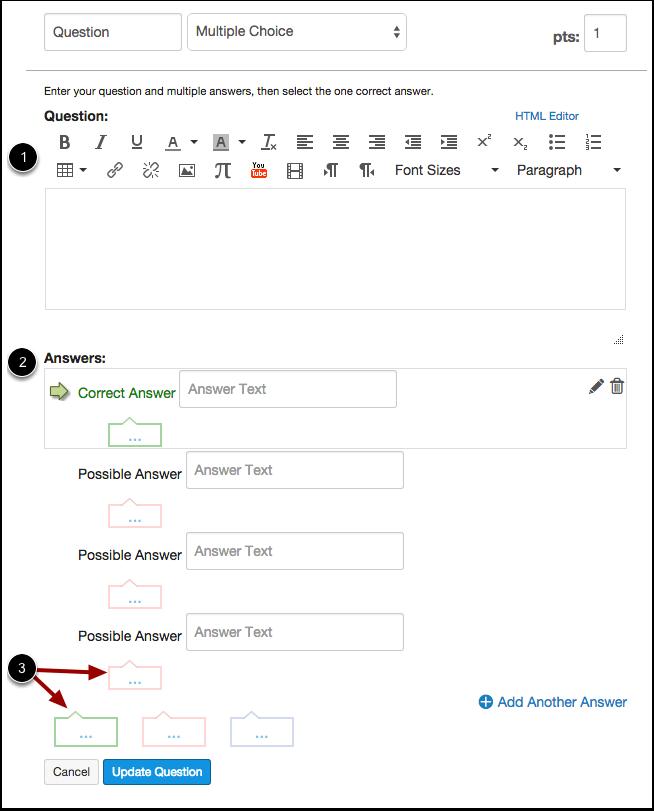 Edit Multiple Choice Question Details