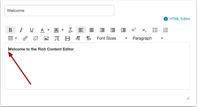 Place Cursor In Front Of Text