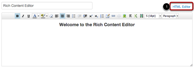 Launch the HTML Editor