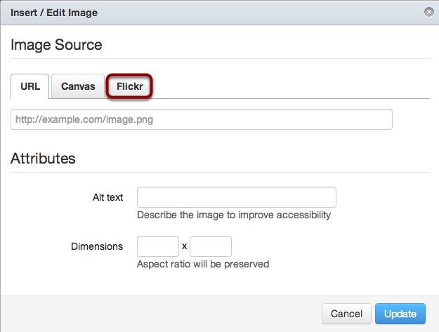 Select Flickr Tab