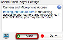 Allow Adobe Flash Player Access