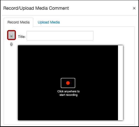 Select Video Recording Option