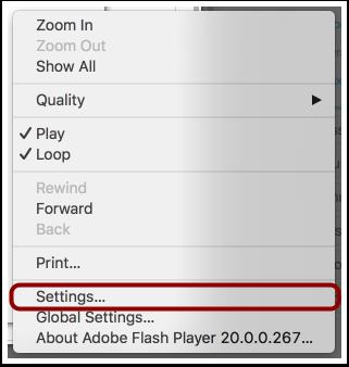 Select Settings
