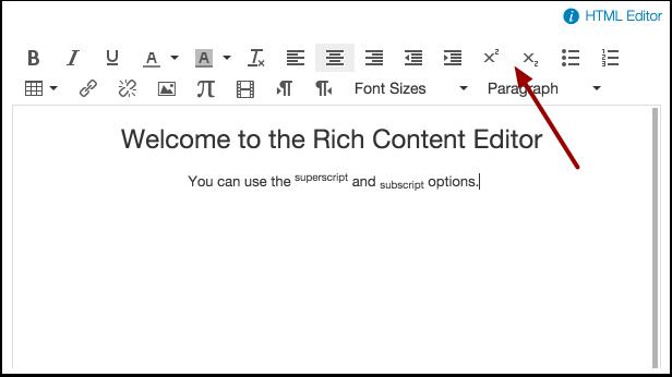 Superscript and Subscript Text