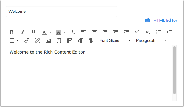 Open the Rich Content Editor