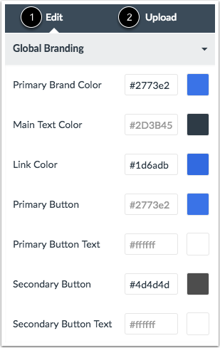 View CSS/JS Upload Tab