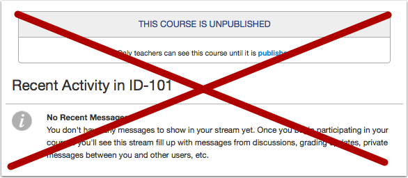 Observers Can't See Unpublished Courses