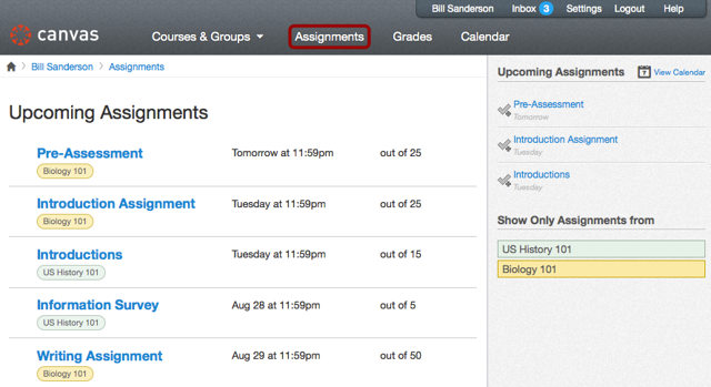 Observers Can See the Global Assignments Page