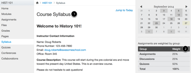 Observers Can See the Syllabus Page