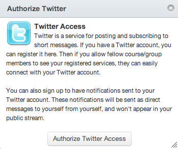 Authorize Twitter Access