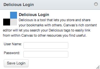 Log in to Delicious