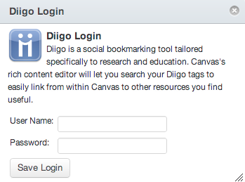 Log in to Diigo
