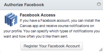 Register your Facebook account