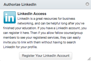 Register your LinkedIn account
