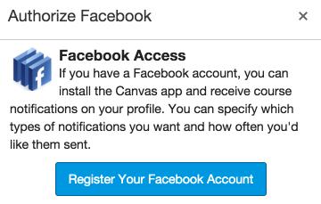 Register your Facebook account