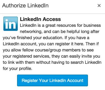 Register your LinkedIn account