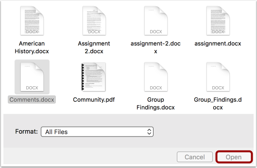 Select File From Computer