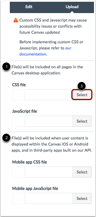 Select CSS/JS file types