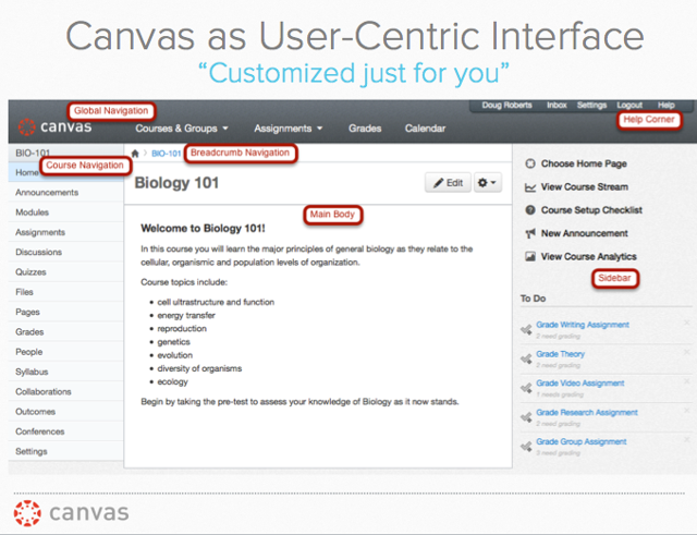 """Customized just for you"": Canvas as Unobtrusive, User-Centric Interface"