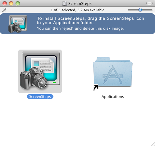 Move ScreenSteps to your Applications folder (Mac)