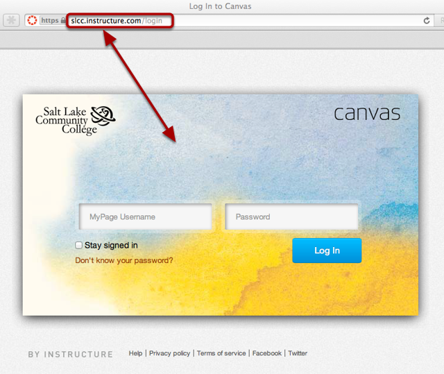 Access Canvas via Your Canvas URL