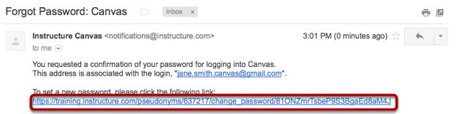 Reset Password through Link