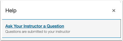 Ask Your Instructor a Question (Students)